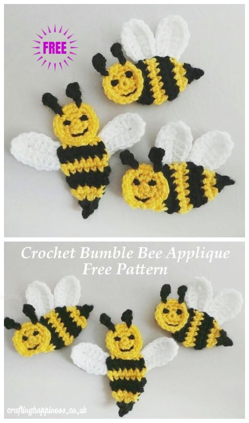 Free Crochet Bee Pattern - Grace and Yarn | 850x500
