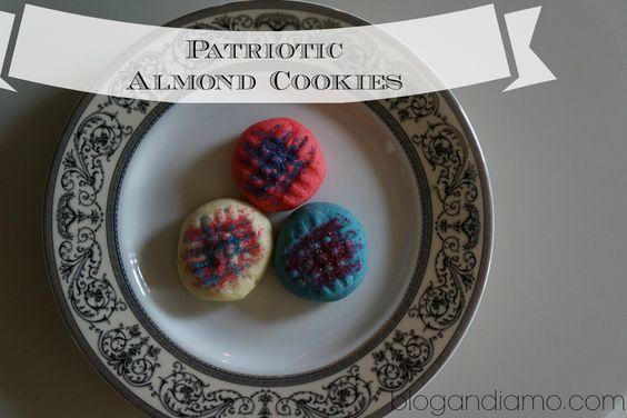 Almond cookies patriotic style #4thjuly