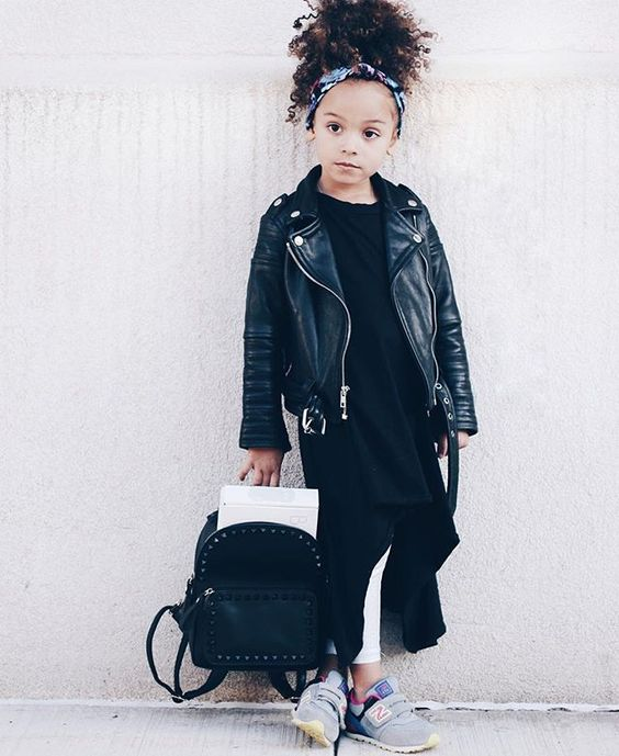 Kid's layered punk outfit