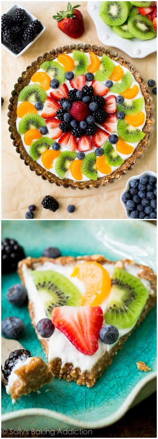 New on my blog! Healthy, feel-good, SUPER EASY! Greek Yogurt Fruit Tart.: