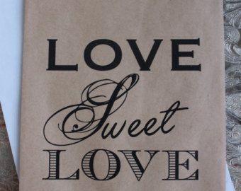Matrimonio Bomboniere borse-Candy Buffet-nozze di RootedManor