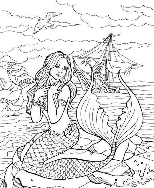 Rozmalovki Antistres Art Nathnennya Hobd Antistres Art Nathnennya Rozmalovki Hobd Mermaid Coloring Pages Fairy Coloring Pages Mermaid Drawings