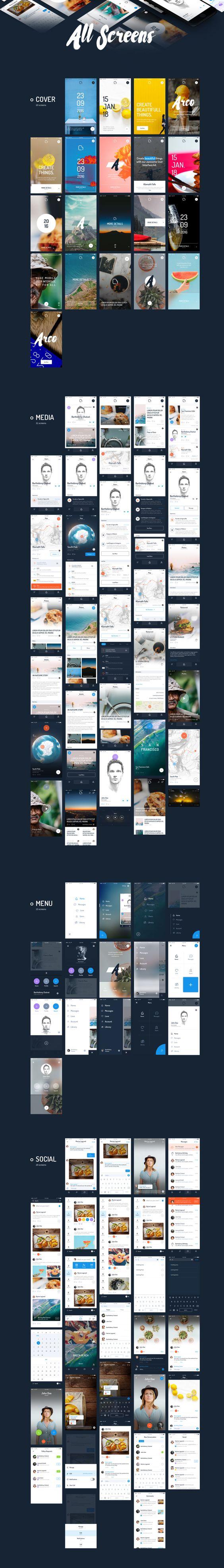 Arco - Mobile UI Kit by MarketMe on @creativemarket