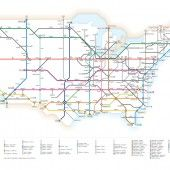 Interstates as Subway Diagram: 2011 Version by Cameron Booth
