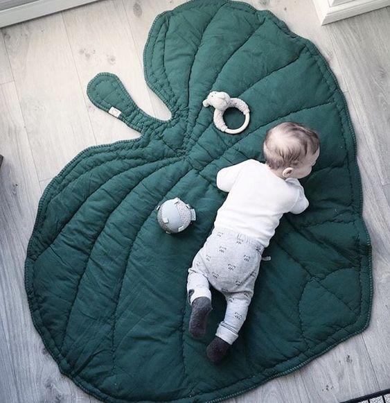 tapete de atividade de folha verde para o bebê . decoraçao para o quarto bebê do bebê