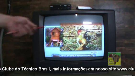 Televisão antiga sem entrada para conversor digital