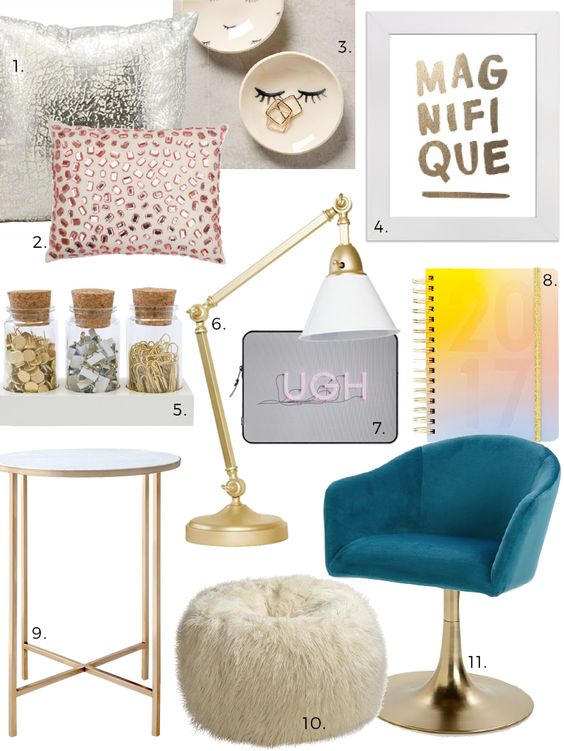 Affordable Style: Dorm Glitzy Glam Design Finds
