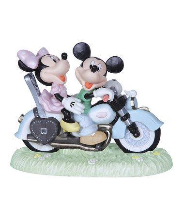 Look what I found on #zulily! Mickey And Minnie Motorcycle Figurine #zulilyfinds