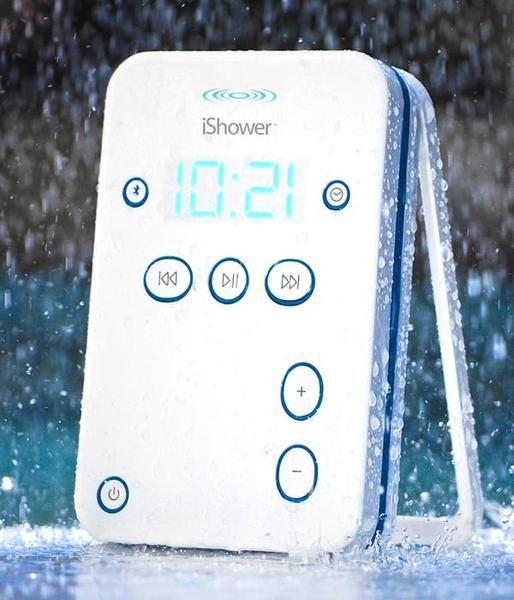 iShower Portable Waterproof Wireless Speaker... I NEED THIS