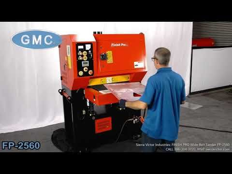 Sierra Victor Machinery Finish Pro Wide Belt Sander Fp 2560 In 2020 Belt Sander View Video Sanders