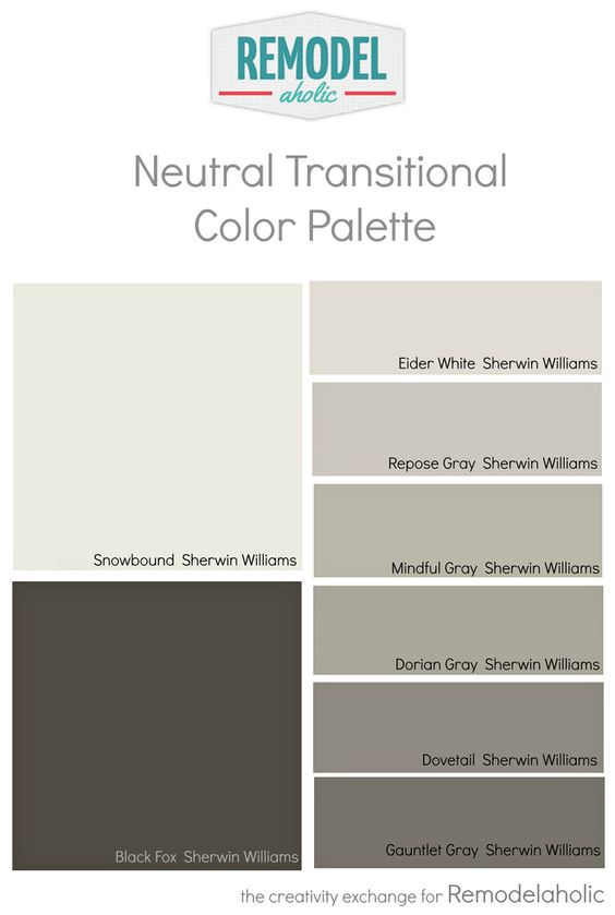 Whole House Paint Color Palette Using One Undertone