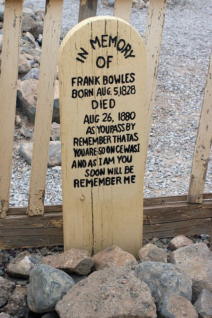 Frank Liess markers arizona and graveyards on