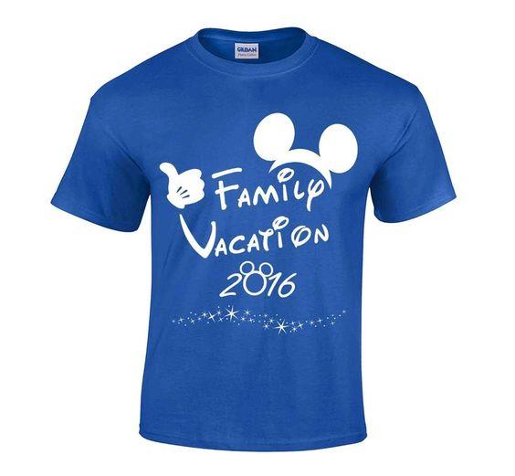 2016 Disney Family Vacation T-shirt #CrewNeck
