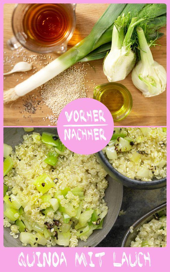 http://eatsmarter.de/rezepte/quinoa-lauch Quinoa mit Lauch – einfach, aber super lecker!!!! Quinoa gehört zu den sogenannten Superfoods und ist ein tolles Reisersatz.