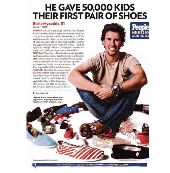 #DesignerHandbagsLove.COM  You buy a shoe from Toms, they give a shoe for charity.