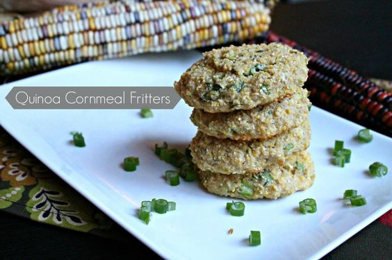 Quinoa Cornmeal Fritters | Britt's Blurbs
