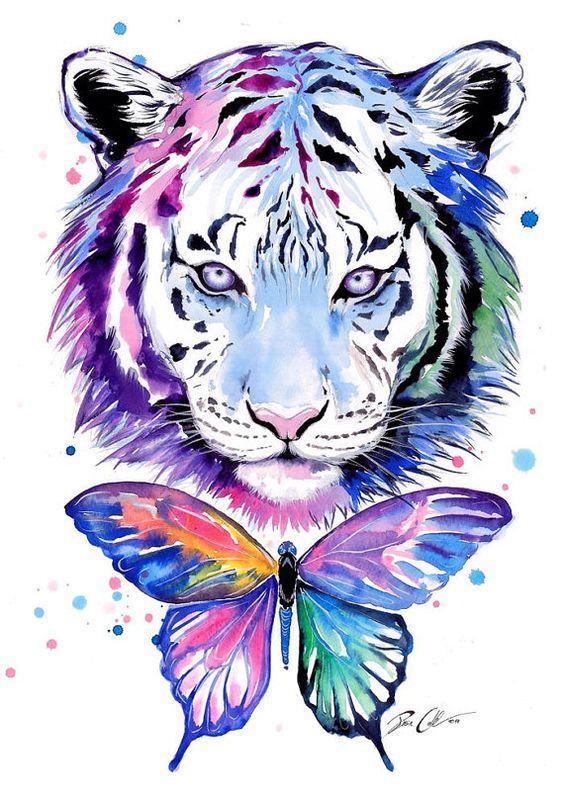 tigres et papillons sign art print uvres d 39 art art de la chambre et tigres. Black Bedroom Furniture Sets. Home Design Ideas