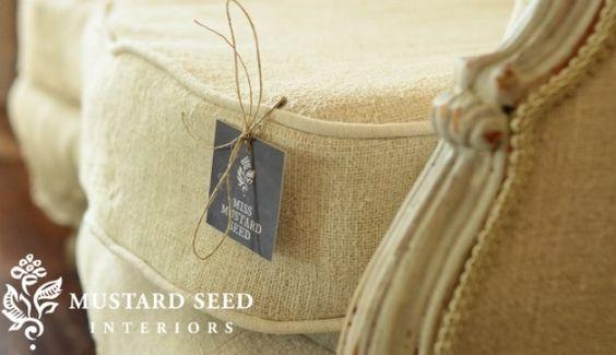 Upholstery miss mustard seeds and sacks on pinterest - Mustard seed interiors ...