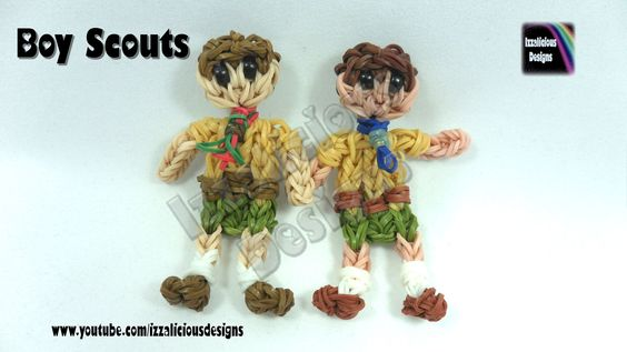 Rainbow Loom Boy Scout Action Figure/Charm - © Izzalicious Designs 2014