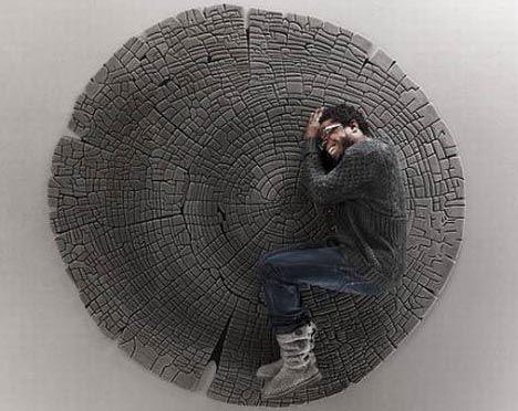Yvette Laduk faux wood rugs