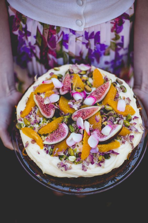 Orange And Hazelnut Cake With Orange Flower Syrup Recipe — Dishmaps