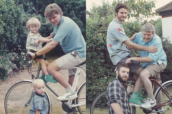 Pics recreated from childhood-so cute/funny!!!