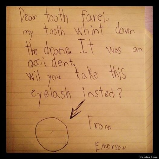 Dear Tooth Fairy,