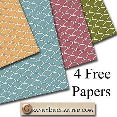 "Free ""Fresh"" Digital Scrapbook Paper Pac"