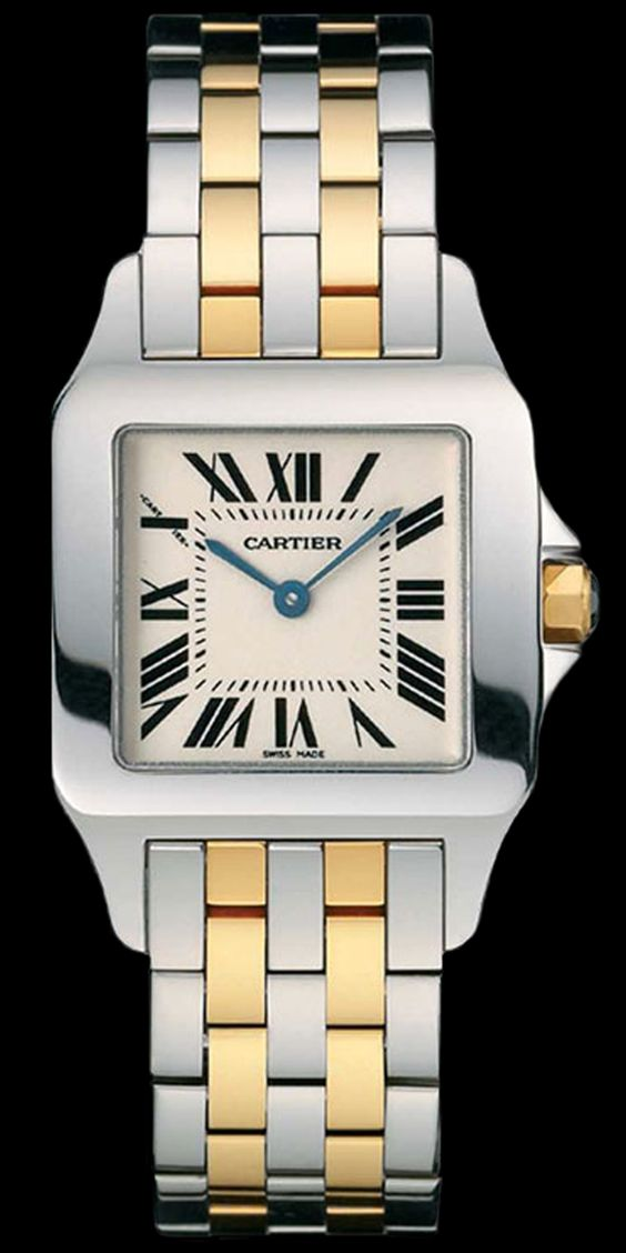 #Cartier #Santos_Demoiselle #Ladies_Watch W25066Z6 #swisswatchdealers The rounded angles, the Roman numerals and sword-shaped hands of the iconic watch are reinterpreted with elegance and refinement