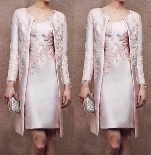 Plus Size 6 30 Lace Mother Of The Bride Dress Pink Wedding Guest Outfit Jacket 79 00 P In 2020 Wedding Guest Outfit Wedding Guest Gowns Mother Of The Bride Dresses