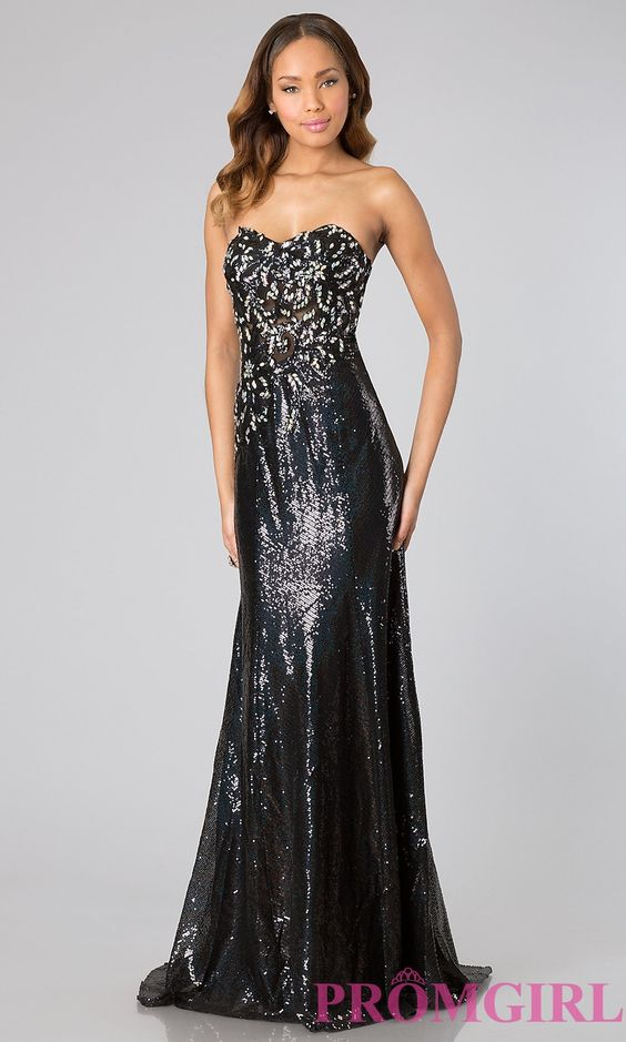 Strapless Sequin Gown by Jasz 1133 $256.99 Formal Dance