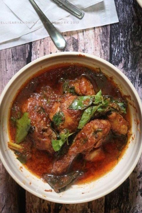 Resep Ayam Bumbu Merah : resep, bumbu, merah, Resep, Bumbu, Rujak, Mantab, Ayam,, Makanan,