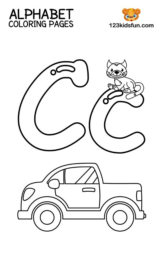 Alphabet Coloring Pages Your Toddler Will Love | 883x564