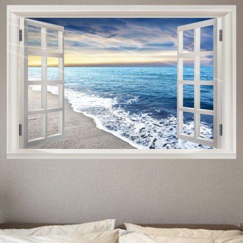 36x24 Nautical Wave Window Cling CGSignLab Coming Soon