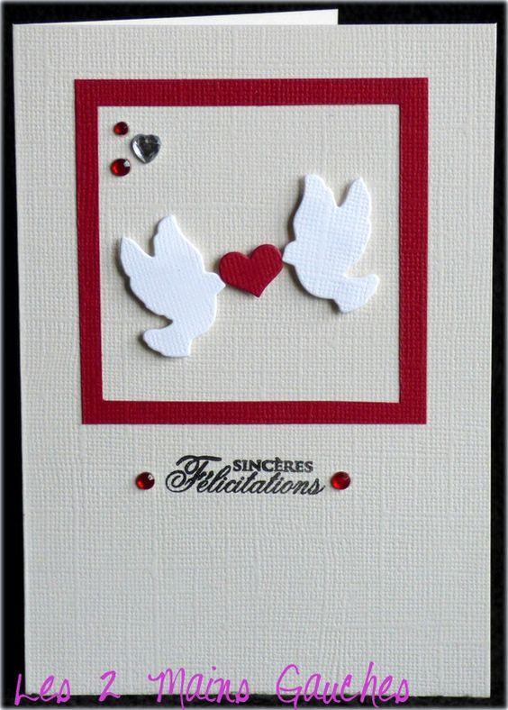 Carte de f licitations avec colombes et coeur cartes mariage pinterest - Felicitation mariage humour ...