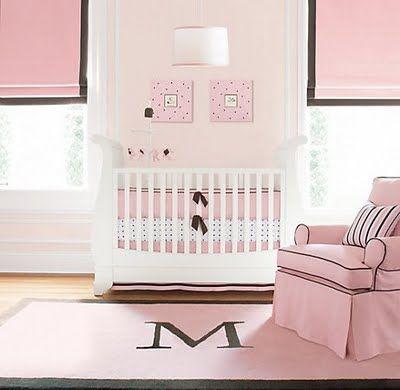 Brown And Pink Plus Paint A Monogrammed Rug Kid Rooms