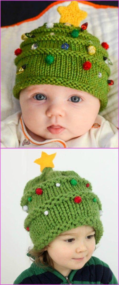 Knit Christmas Tree Hat Free Patterns Christmas Knitting Patterns Baby Knitting Christmas Knitting