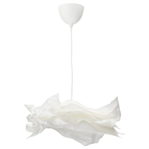 Krusning Pendant Lamp Shade White 33 Ikea In 2020 Pendant Lamp Shade Pendant Lamp White Pendant Lamp
