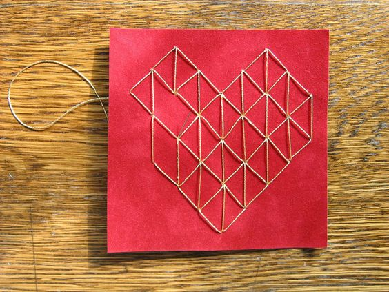 Stitched Heart - In Progress by all things paper, via Flickr