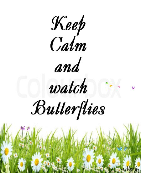 Keep Calm and watch Butterflies (personalised) - created by eleni