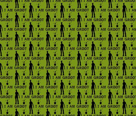 I am Groot (Green-Black) fabric by bm_design_studio on Spoonflower - custom fabric - http://www.spoonflower.com/designs/3456210