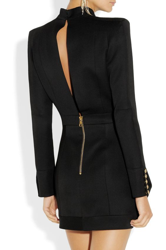 Balmain|Wool-twill mini dress| It is a fucking perfect dress