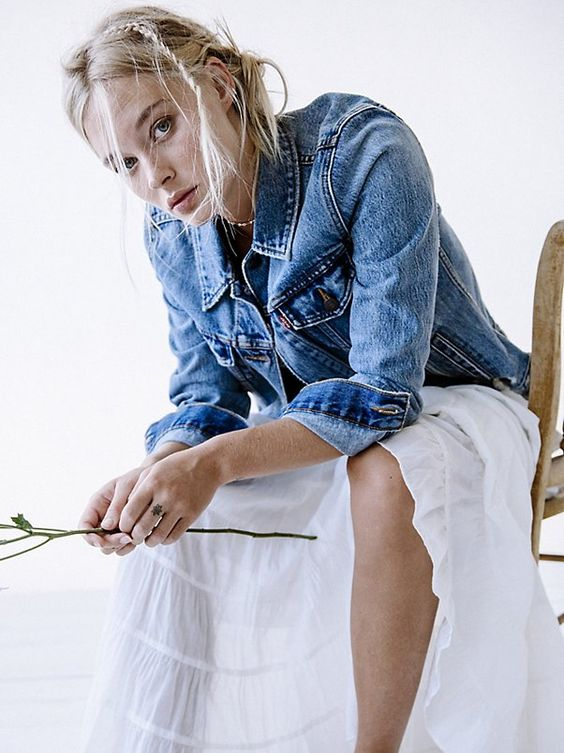 Boyfriend Trucker Denim Jacket | @andwhatelse