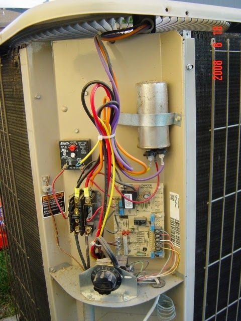 lennox ac contactor to capacitor wiring diagram  other hvac