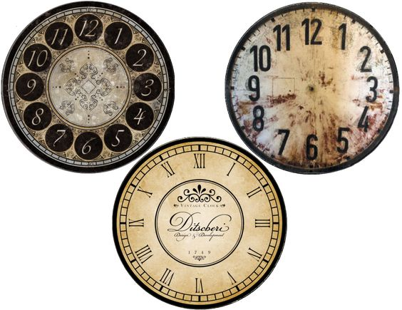 New Years Free Clock Face Printables Cd Size And Plate
