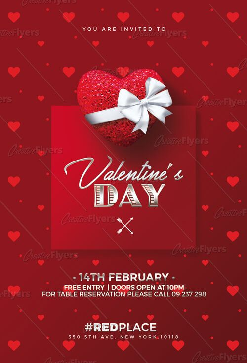 Download Psd Valentine S Day Flyer Template Creative Flyers Poster Template Design Flyer Creative Flyers