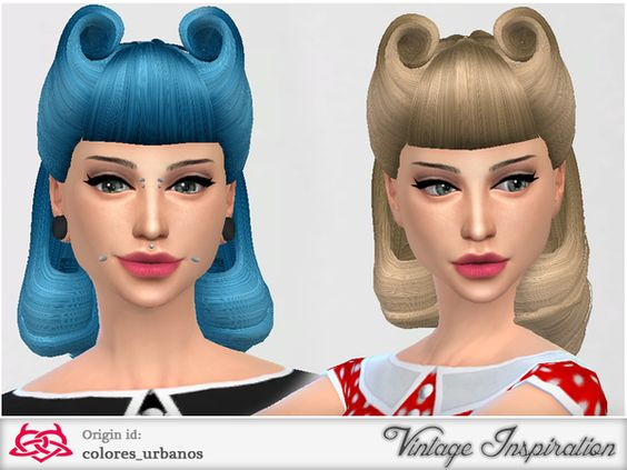 The Sims Resource Victory Rolls 01 hair by Colores