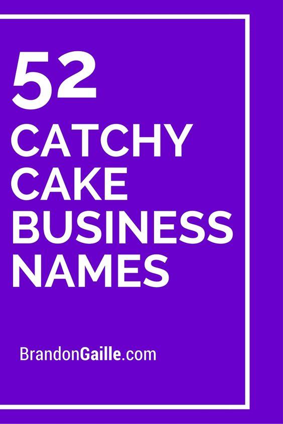 cake businesses names