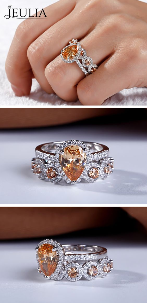 Luxury Round White Sapphire Hollow Out Ring Rose Gold Women Wedding Band Jewelry
