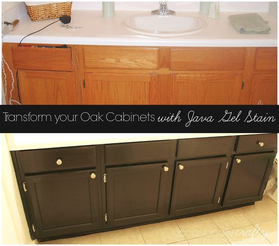 Oak Cabinets, Stains And The O'jays On Pinterest